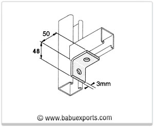 Angle Brackets strut channel brackets bracketry manufacturers exporters india