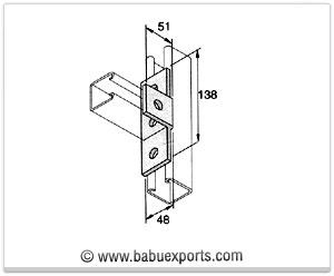 Angle T Brackets strut channel brackets bracketry manufacturers exporters india