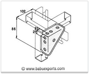 Gusseted Bracket strut channel brackets bracketry manufacturers exporters india
