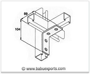 Angle Bracket 90° strut channel brackets bracketry manufacturers exporters india