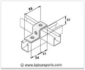 Z Brackets strut channel brackets bracketry manufacturers exporters india