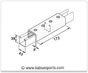 External Channel Coupler strut channel brackets bracketry manufacturers exporters india