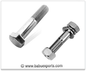 Hex -Bolts, Foundation Bolts, Galvanized hex head Bolts