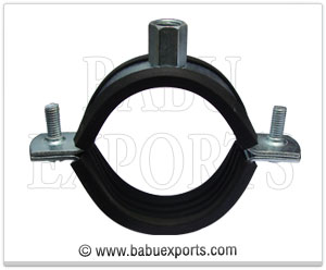 pipe clamp with rubber lining