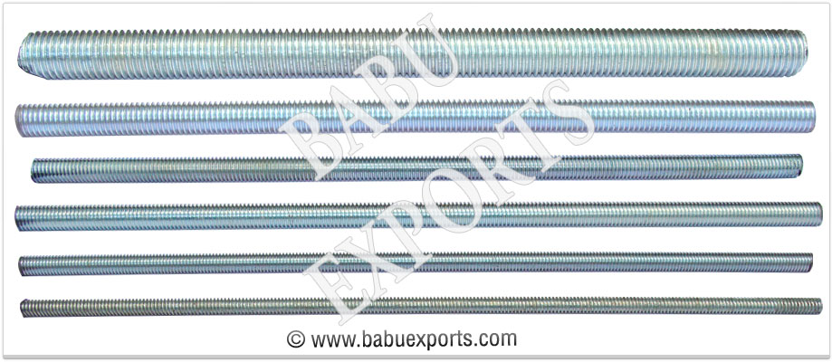 low carbon steel threaded rods thread bars manufacturers exporters india